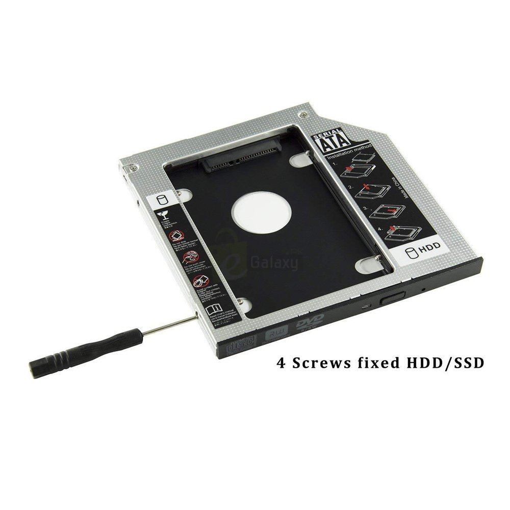 2nd HDD Caddy for Laptop cd rom 4 screws