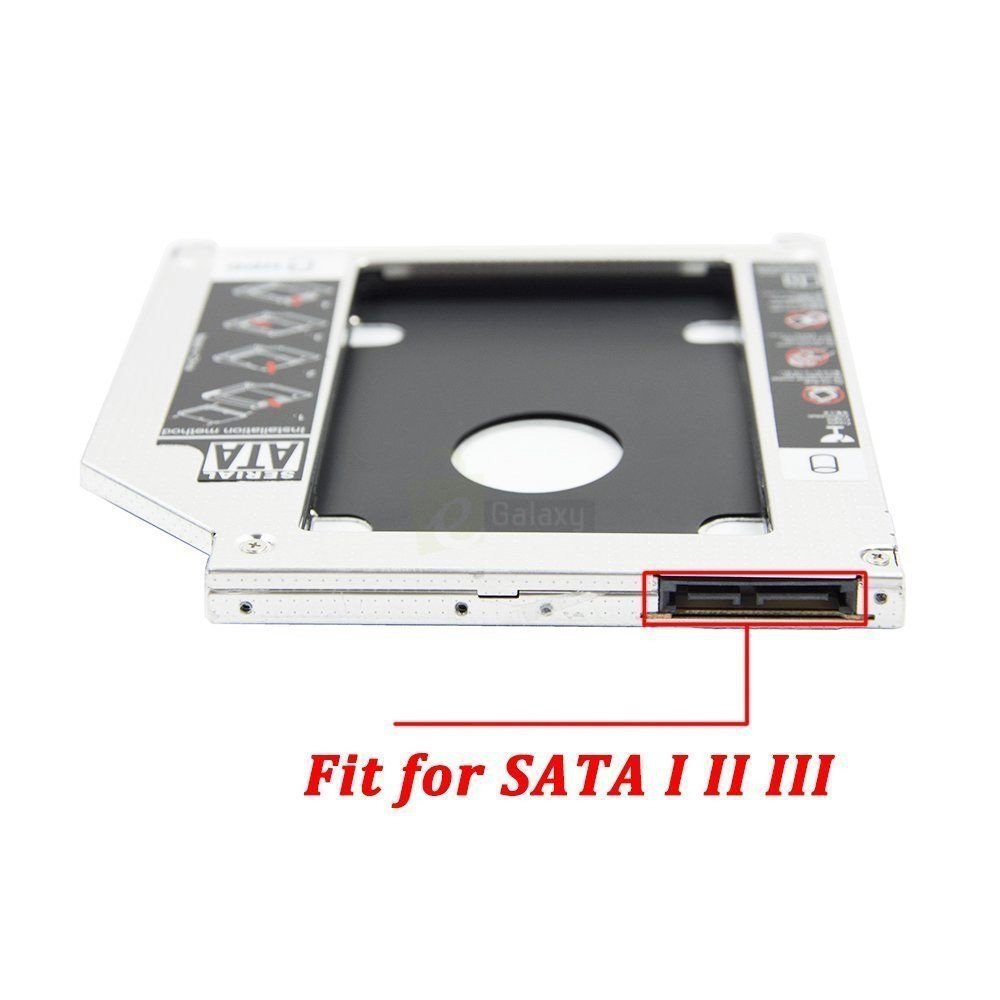2nd HDD Caddy for Laptop cd rom fit for sata 1,2,3