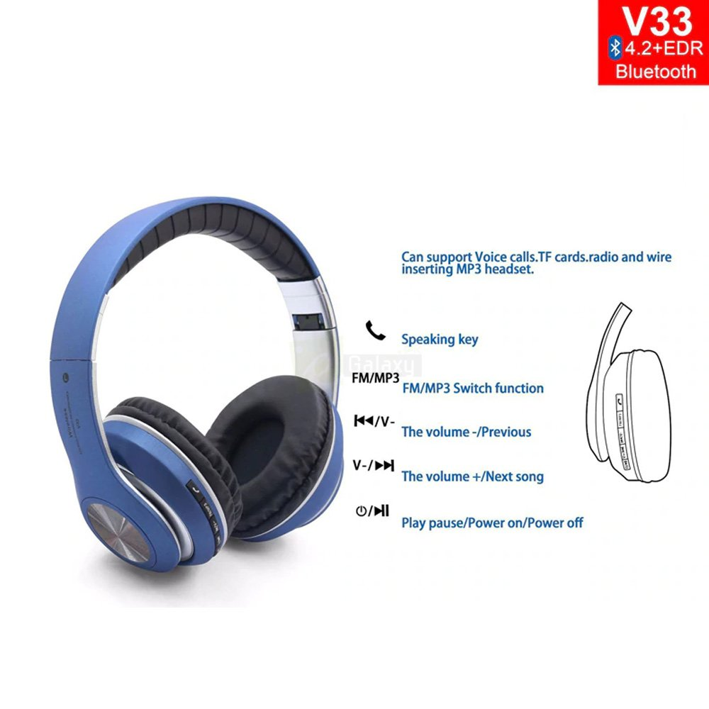 Buy JBL V33 Wireless Headphones Bluetooth Headphones in Pakistan