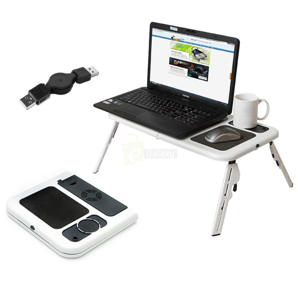 Adjustable Folding laptop table cooling pad